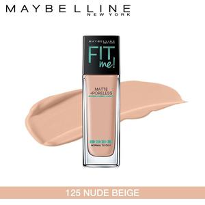 Maybelline New York Fit Me Matte + Poreless Foundation (125 Nude Beige-30ml)