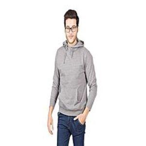 Shop All OnlineHeather Grey Plain Kangroo Hoodie For Men