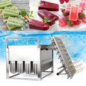 40pcs Stainless Steel Molds Mold Ice Pop Lolly Popsicle Ice Cream Stick Holder