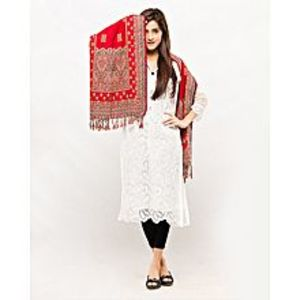 Misbah's StyleRed Pashmina Shawl For Women