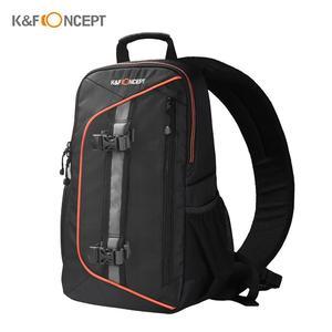K&F CONCEPT Digital DSLR Camera Bag Backpack Case Travel Sling Shoulder Bag Shockproof Waterproof with Lens Cleaning Set for Canon Nikon Sony Outdoor Photography