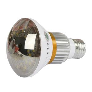 Wirless  With 5 W White Light Indoor Bulb Wifi Camera - Silver