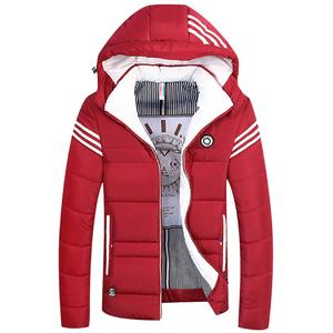 Fashion Stand Collar Winter Men Jacket Cotton Padded Down Coats Thick Outwear