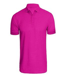 Pink Plain Polo T-Shirt For Men