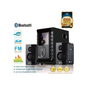 Sayona SHT-1002 - 2.1 Channel Speaker With Subwoofer/USB/Remote Control/SD/FM/Bluetooth/LED Display - Black