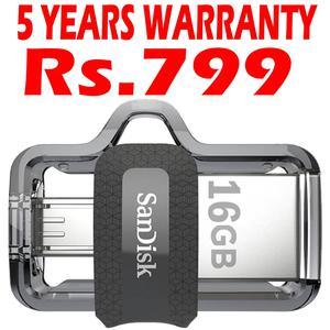 SanDisk 16GB OTG USB Flash Drive Dual Drive M3.0