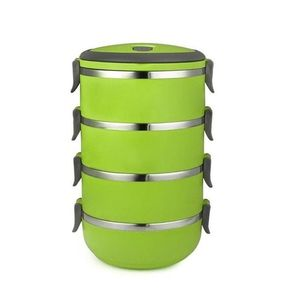 KkrProducts 4 Layer Stainless Steel Lunch Box - Green