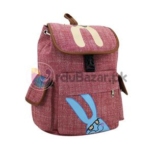 Quality Fabric Red Bag - 5 Pockets Women, Ladies & Girls Backpack