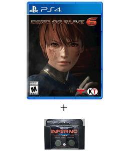 PLAYSTATION 4 DVD Dead Or Alive 6 PS4 GAME PLUS KONTROL FREEK
