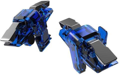 Mobile Game Controller X7 Metal Gamepad Trigger Aim Button Joystick for PUBG Games for Smartphones Tablets - Blue