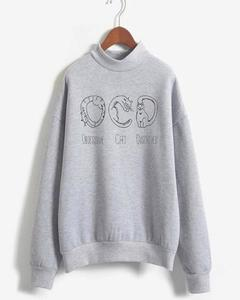 OCD Printed Sweat Shirt For Her