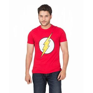 Flash Printed Cotton T-shirt in Red For Men - By Cotton Tree
