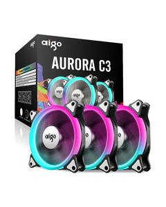 Aurora C3 Kit 3 Pack Rgb Case Fan Led 120Mm Speed Controllable High Performance