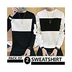 AybeezPack Of 2 Sweatshirts For Men - ABZ-2276 S