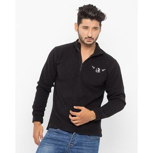 Todd Davis Black Polar Fleece Jacket For Men - EL-4