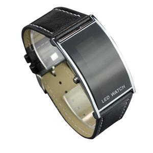 LED Date Digital Women Men Sports Leather Bracelet Wrist Watch