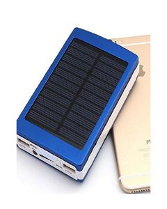 Universal Solar Power Bank Flash Light 15000Mah - Solar Power Bank - Black