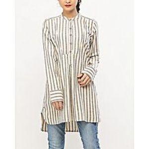 DenizenCotton New Banded Collar Shirt Sage Heather - Woven Shirts