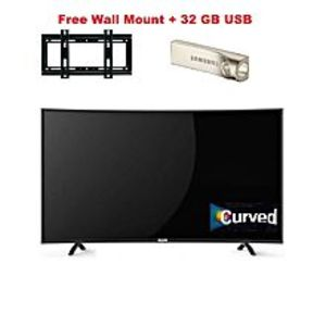 "Icon Mart ICON 32"" LED TV Full HD Curved With free Wall Mount+32 GB USB"