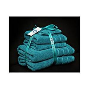 AKTIAlkaram Towel 6 - Piece Towel Set Turquoise