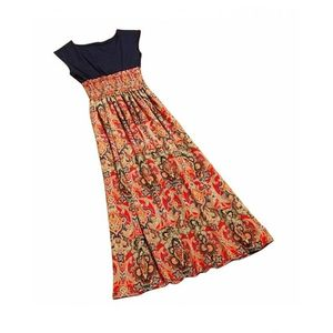 Charji Shop Red Floral Printed Dress For Women