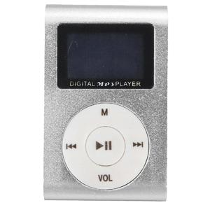 MP3 Player USB Clip 32GB Micro SD Card Slot silver