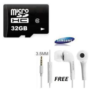 32 GB Micro SD HC - Memory Card (32GB) With Free Samsung Handsfree