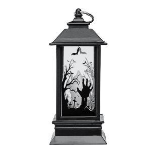 Vintage Halloween Pumpkin Castle Ghost Hand Light Lamp Party Hanging LED Lantern