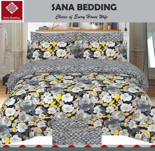 Multicolor Cotton King Size Bed sheet With 2 Pillow Covers - 3pcs