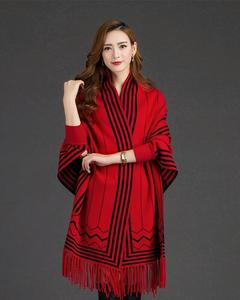 Red Printed Shawl For Women