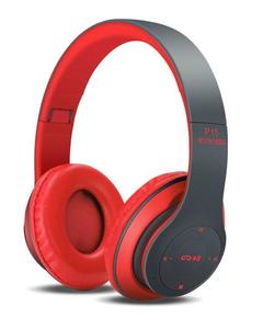 P15 -Wireless Bluetooth Stereo Bass Headphones - Red