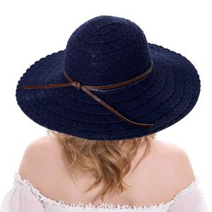 Kobwa Summer Cotton Lace Visor Wide Brim Sun Hat For Women Beach Visor Hats UV Protect Cap