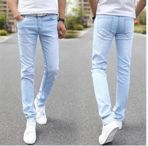 Export Quality Stretch Slim Fit Jeans Men's Ice Blue Denim Jeans