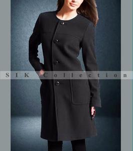 Stylish Black Winter Warm Fleece Long Coat For Women