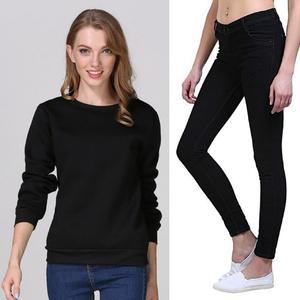 Pack of 2 Skinny Jeans & Fleece Sweatshirt