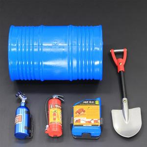 RC Rock Crawler 1:10 Accessories Oil Drum Fuel Tank Fire Extinguisher Shovel for Axial SCX10 TAMIYA CC01