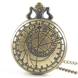 UR Antique Hollow Out Round Dial Quartz Pocket Watch Necklace Pendant Clock