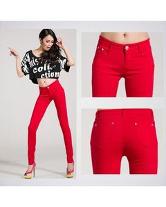 The Ajmery Womens Red Skinny Jeans BB-00031