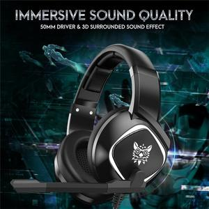 ONIKUMA K19 Gaming Headset PS4 PC Gamer Stereo Gaming Headphones with Mic/LED Light for Xbox One/Laptop Tablet/Phone