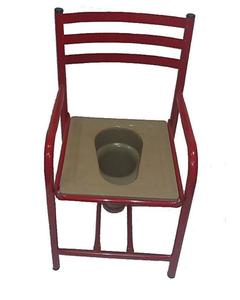 Commode Chair Fixed With Plastic Seat