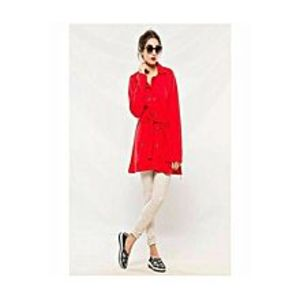 Winter Gift Long Coat With Front Pockets For Women