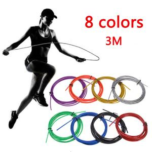 The old tree Spare Rope 2.5mm*3m Crossfit Replaceable Wire Cable Speed Jump Ropes Skipping Rope Color Red Blue and Black steel wire red