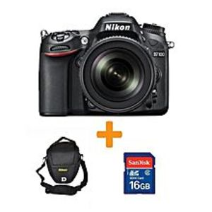 Nikon D7100 DSLR Camera with 18-140mm Lens + 16GB Card & Bag - Black