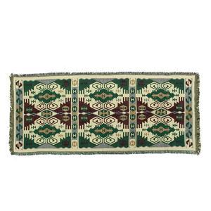 Bohemian Boho Throw Rug Couch Lounge Sofa Chair Blanket Bed Sheet Green 90x180cm