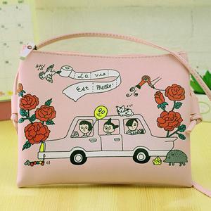 Amart-D Women Cartoon Printed Graffiti Handbag Mini Crossbody Shoulder Bag Ladies Casual Purses Clutches