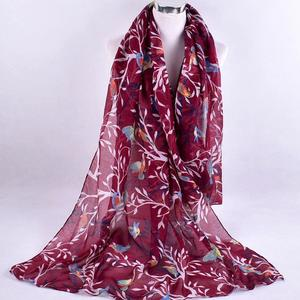 Women Ladies Fashion Printed Soft Chiffon Shawl Wraps Scarf Scarves