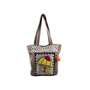 Apple Handbag for School and College - 15x14 - Brown