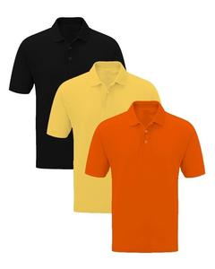 Pack Of 3 Solid Multicolor Polo Shirts