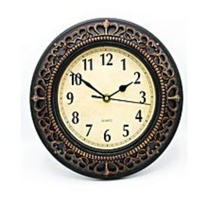 La Raffinee Antique Descent Wall Clock - Brown - 10X10""