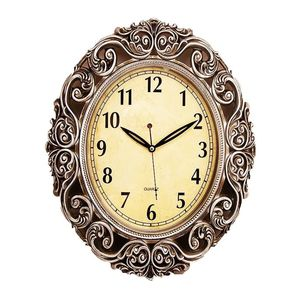 Asaan Buy Antique Wall Clock With Silver Finishing - 15x19 - Brown